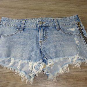 Siwy Camilla Cut-Off Shorts Blue Zippers